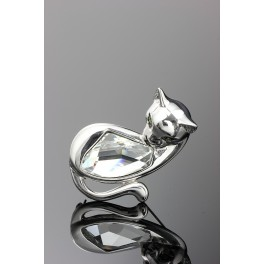 Brož Swarovski ELEMENTS Kočka krystal
