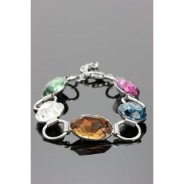 Náramek s pěti krystaly Swarovski ELEMENTS