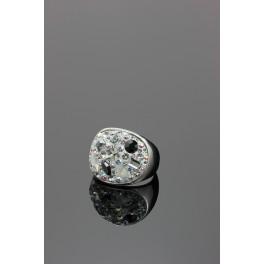 Prsten s hmotou a krystaly Swarovski ELEMENTS