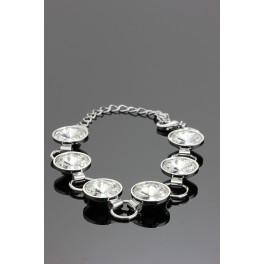 Náramek Swarovski ELEMENTS s 6-ti krystaly Rivoli