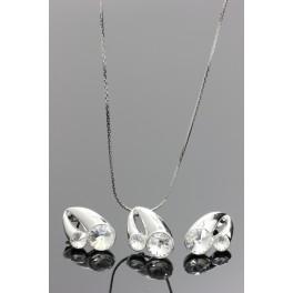Kreolka se dvěma krystaly Swarovski ELEMENTS