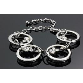 Náramek Swarovski ELEMENTS Kruhy s krystaly