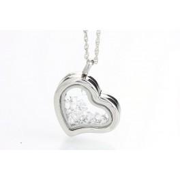 Otevíratelné srdce s krystalky Swarovski ELEMENTS