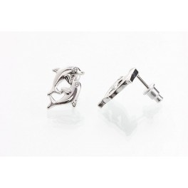 Delfínci s krystalem Swarovski ELEMENTS