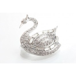 Brož Swan Swarovski ELEMENTS
