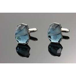 Luxusní manžetové knoflíčky s atypickým krystalem