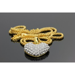 Pozlacený náhrdelník Swarovski ELEMENTS