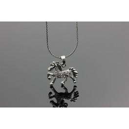 Kůň náhrdelník Swarovski ELEMENTS