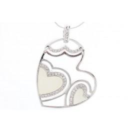 Malované srdce zdobené křišťálovými kameny Swarovski®