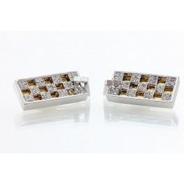 Skládané náušnice zdobené křišťálovými kameny Swarovski®