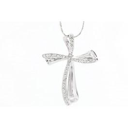 Elegantní kříž zdobený kameny od společnosti Swarovski®