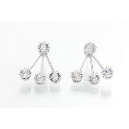 Náušnice s čtyřmi krystaly od společnosti Swarovski®