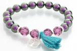 Perlový náramek s křišťálovými kameny od společnosti Swarovski®