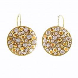 Stříbrné náušnice Rivoli Extramix 18 s kameny Swarovski® v barvě zlata