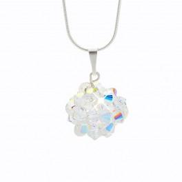 Stříbrný náhrdelník Sun s křišťálovými kameny Swarovski®