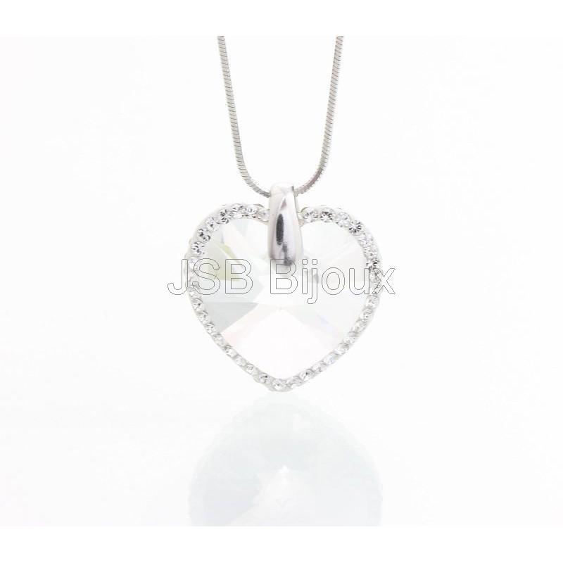 Stříbrný náhrdelník Srdce s obtahem z křišťálových kamenů Swarovski®  Zobrazit v plné velikosti 30dde2c1e2c