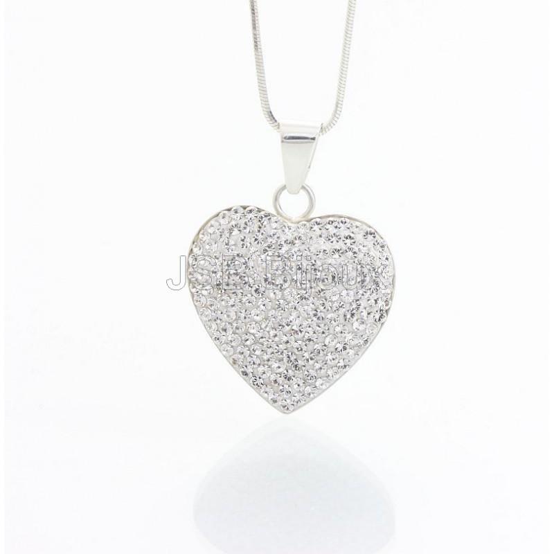 Stříbrný náhrdelník Velké Srdce z křišťálových kamenů Swarovski® Zobrazit v  plné velikosti f2cdbee5f24