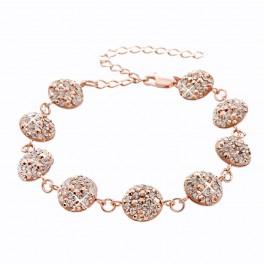 Stříbrný náramek Rivoli Extramix 14 s kameny Swarovski® v barvě růžového zlata