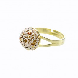 Stříbrný prsten Bombé Extramix 10 s kameny Swarovski® v barvě zlata