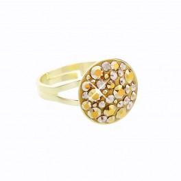 Stříbrný prsten Rivoli Extramix 14 s kameny Swarovski® v barvě zlata