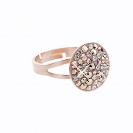 Stříbrný prsten Rivoli Extramix 14 s kameny Swarovski® v barvě růžového zlata
