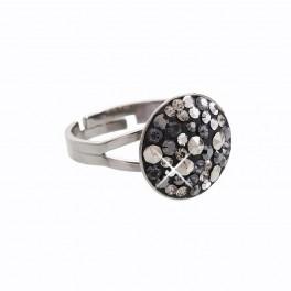 Stříbrný prsten Rivoli Extramix 14 s kameny Swarovski® v barvě ruthenia