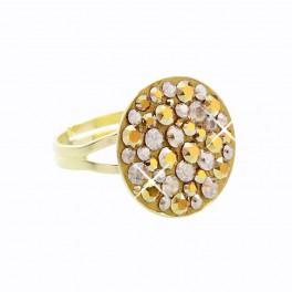 Stříbrný prsten Rivoli Extramix 18 s kameny Swarovski® v barvě zlata