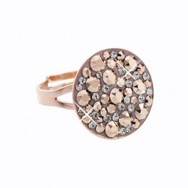 Stříbrný prsten Rivoli Extramix 18 s kameny Swarovski® v barvě růžového zlata