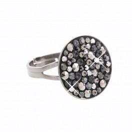 Stříbrný prsten Rivoli Extramix 18 s kameny Swarovski® v ruthenia