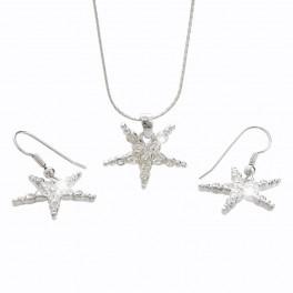 Souprava mořské hvězdy s kameny Swarovski®