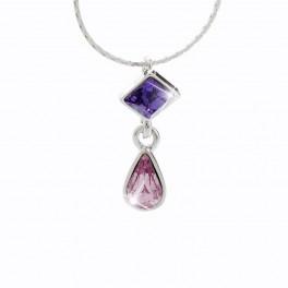 Elegantní visací náhrdelník s kameny Swarovski®
