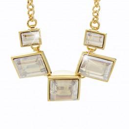 Čtvercový náhrdelník s kameny Swarovski®