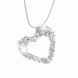 Jemný náhrdelník Srdíčko s kameny Swarovski®