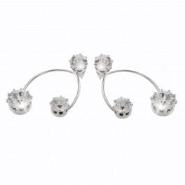 Náušnice s třemi krystaly od společnosti Swarovski®