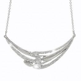 Luxusní náhrdelník ve tvaru vln se třpytivými kameny od společnosti Swarovski®