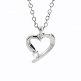 Náhrdelník Srdce s křišťálovým šatonem od společnosti Swarovski®