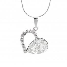 JSB Bijoux Náhrdelník Srdce s kameny Swarovski