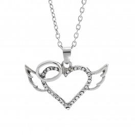 JSB Bijoux Náhrdelník Andělské srdce s krystalky Swarovski