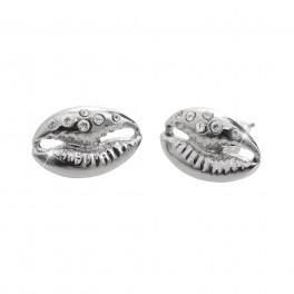 JSB Bijoux Náušnice Mušličky s krystalky Swarovski