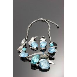Luxusní souprava Swarovski ELEMENTS Sapphire
