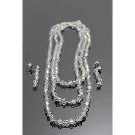 Souprava Swarovski ELEMENTS Trojřadý náhrdelník