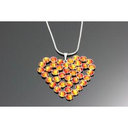 Náhrdelník Swarovski ELEMENTS Srdce šatón