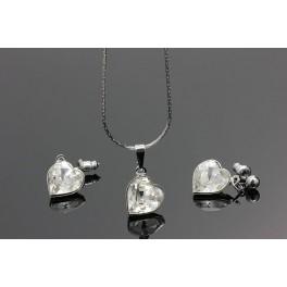 Souprava Swarovski ELEMENTS Srdce crystal