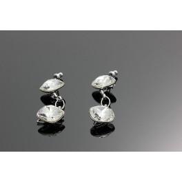 Náušnice Swarovski ELEMENTS Salie crystal 2x